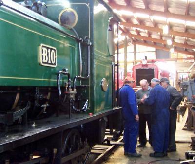Inside the Oamaru Steam & Rail workshop